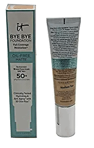 It Cosmetics Bye Bye Foundation Oil-Free Matte Full Coverage Moisturizer with SPF 50+ [Light]