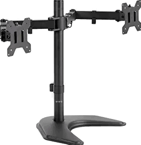 Vivo Dual LED LCD Monitor Free-Standing Desk Stand
