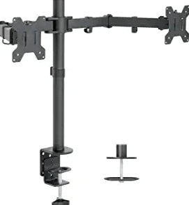 Vivo Dual LCD Monitor Desk Mount Stand V002
