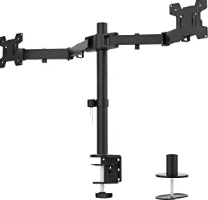 WALI Dual LCD Monitor Fully Adjustable Desk Mount