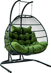Some prefer hanging around in company and LeisureMod fulfills their desire by presenting its double hanging egg chair.