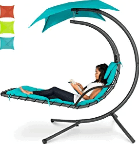 Best Choice Products Outdoor Hanging Chair with Removable Canopy