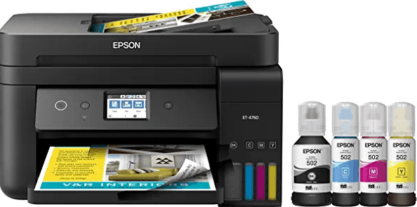 Epson EcoTank Et-4760 Wireless All-in-One Supertank