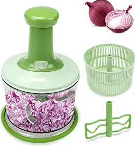 FAVIA 4 Cup Onion Food Chopper for Salsa Pesto Coleslaw Puree