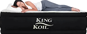 King Koil Queen Air Mattress with Built-in Pump