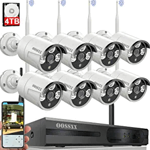 Wireless Security Camera System OOSSXX 8 Wi-Fi Cameras System