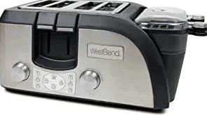 West Bend TEMPR100 Silver/Black Toaster Oven