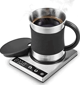 COSORI Coffee Mug Warmer & Mug Set, Electric 24Watt Beverage Cup Warmer for Desk Home Office Use