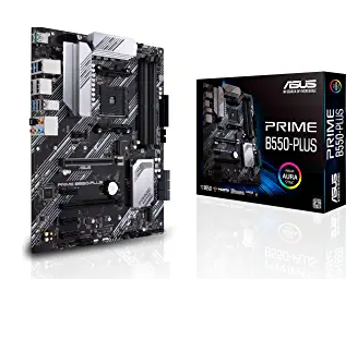ASUS Prime B550-PLUS AMD AM4 Zen 3 Ryzen 5000 & 3rd Gen Ryzen ATX Motherboard
