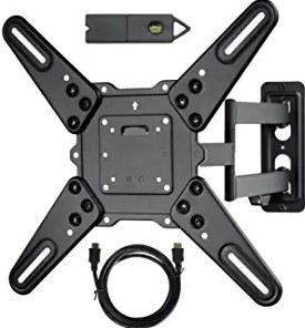 VideoSecu ML531BE2 TV Wall Mount kit with Free Magnetic Stud