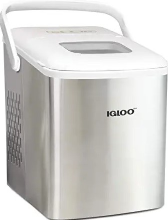 Igloo ICEB26HNSSWL Stainless Steel Automatic Self-Cleaning Portable Electric Countertop Ice Maker Machine