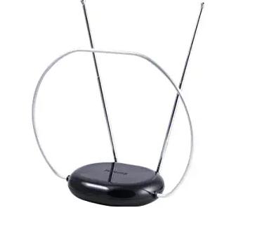 Philips Rabbit Ears Indoor TV Antenna, Dipoles and Circular Loop, Tabletop Antenna,