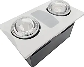 Aero Pure A515A W Quiet Bathroom Fan with Heat and Light