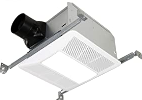 KAZE APPLIANCE Ultra Quiet Bathroom Exhaust Fan with LED Light and Night