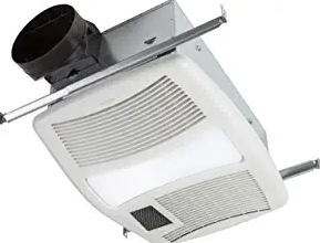 Broan-NuTone QTXN110HL Ceiling Heater, Fan, and Light Combo for Bathroom