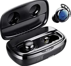 Wireless Earbuds, Tribit 100H Playtime Bluetooth 5.0 IPX8 Waterproof Touch Control True Wireless Bluetooth