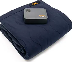Cozee Heated Blanket Battery Operated Portable Outdoor Cordless Heating Blanket.