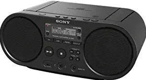 The Sony CD-R/RW player has a powerful sound system for a full range of music enjoyment, including MP3 playback.
