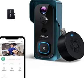 WiFi Video Doorbell Camera, MECO 1080P Wireless Doorbell Camera