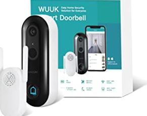 WUUK Smart Video Doorbell Camera wi-fi with Motion Detector, Battery-Powered, 1080p Door Camera Wireless