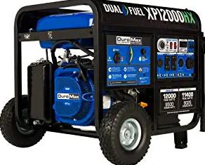 DuroMax XP12000HX Dual Fuel Portable Generator