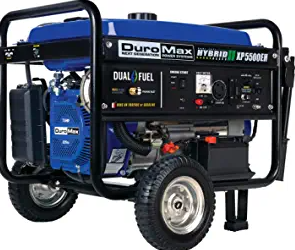 DuroMax XP5500EH Electric Start-Camping & RV Ready, 50 State Approved Dual Fuel Portable Generator