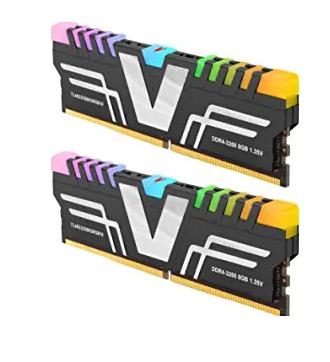 v-Color Prism RGB DDR4 16GB (2 x 8GB) 3200MHz (PC4-25600) CL16 1.35V Desktop Memory Module Ram Upgrade Gaming UDIMM
