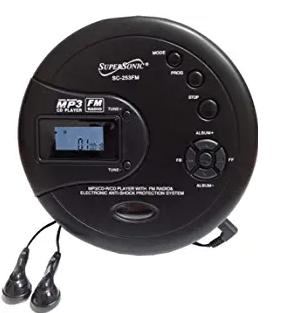 SuperSonic SC-253FM Personal MP3/CD Player w/FM Radio
