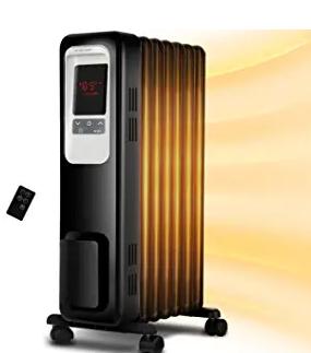 Space Heater, KopBeau 1500W Oil Filled Radiator Electric Heater