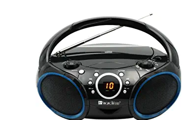 SINGING WOOD 030C Portable CD Player Boombox with AM FM Stereo Radio