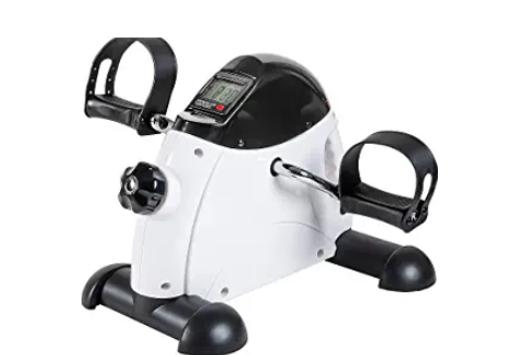 Under Desk Bike Pedal Exerciser - TABEKE Mini Exercise Bike for Arm/Leg Exercise, Pedal Exerciser for Seniors