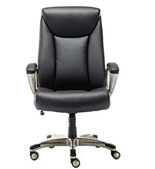 Amazon Basics Bonded Leather Big & Tall Executive Office Computer Desk Chair