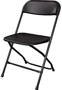 Ontario Furniture: Stackable Black Metal Folding Chair