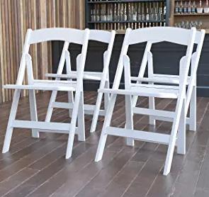 Flash Furniture Hercules Folding Chair - White Resin
