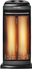 COSTWAY Infrared Heater, 600W/1200W Portable Radiant Tower Space Heater