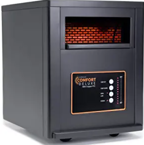 AirNmore Comfort Deluxe with Copper PTC, Infrared Space Heater