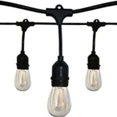 Satco S8020 12-Light 24 Foot Outdoor LED String Light