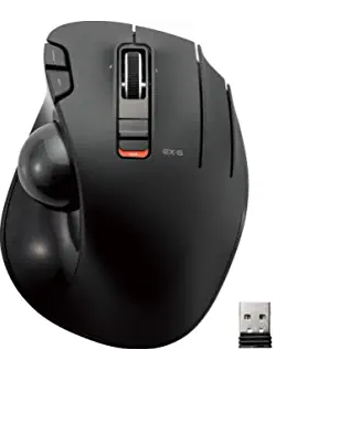 ELECOM 2.4GHz Wireless Thumb-Operated Trackball Mouse