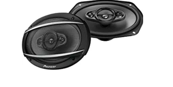 PIONEER TS-A6967S A-Series 6x9 Shallow 4-Way 450 Watts Max Power Black Car Audio Speakers